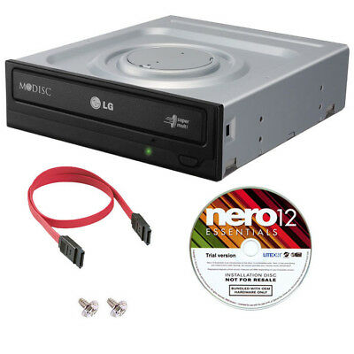 LG Internal SATA 24X MDisc DVD CD +/-R & RW DL Burner Writer Drive + Software