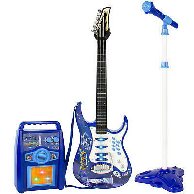 BCP Kids Electric Guitar Toy Play Set w/ 6 Songs, Microphone, Amp
