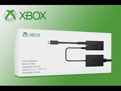 Official Microsoft Xbox One S X Kinect Adapter Pc & Xbox One S New & Sealed Z33A