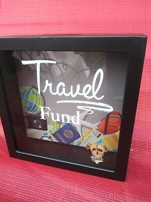 Hand Painted Yorkie Yorkshire terrier dog art  bank travel fund loose change