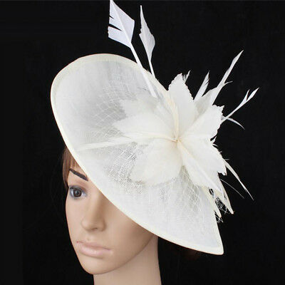Feather Hair Fascinator Headband Wedding Royal Ascot Races