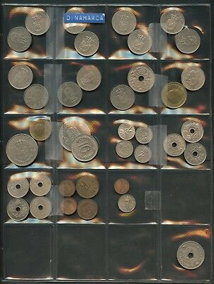 Denmark  Lot Of 38  Assorted Foreign Circulated Coins You Do The Grading