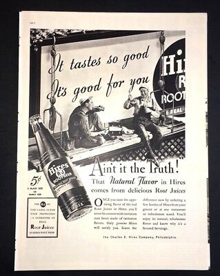 Life Magazine Ad HIRES ROOT BEER 1937 Ad