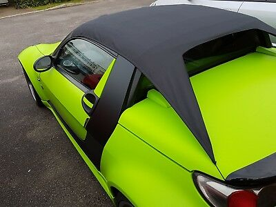 Smart Roadster coupe 452 all weather roof rain cover, drive with it in place