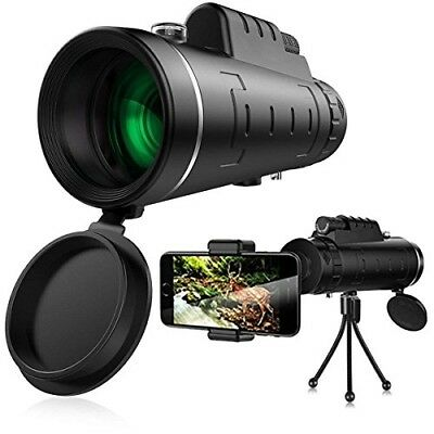 40x60 Zoom Telescope Portable Dual Focus Night Vision Spotting Scope with Tripod