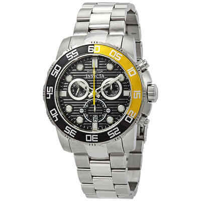 Invicta Pro Diver Chronograph Black Dial Stainlwaa Steel Men's Watch 21553