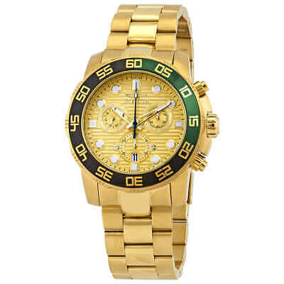 Invicta Pro Diver Chronograph Gold Dial Yellow Gold-plated Men's Watch 21554