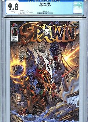 Spawn #55 CGC 9.8 White Pages Image Comics 1996