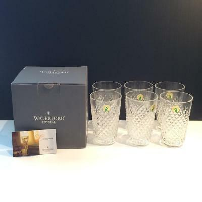 Waterford Alana Crystal Set Of 6 12Oz Tumbler Glasses Mint In Box Cr1523