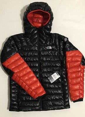 dd15ed630 NWT THE NORTH Face Men's Summit L3 Down Hoodie Jacket Black-Fiery Red Msrp  $350