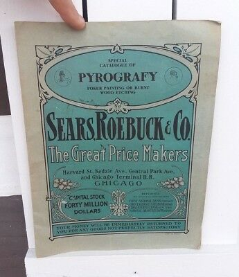 Early Original Advertising Sears Roebuck and Co. Catalog Pyrography 1st Edition
