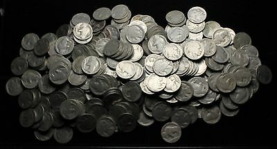 Buffalo Nickel 5c, Big pile, lot of 321 with no dates