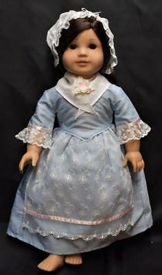 American Girl Doll gown-blue