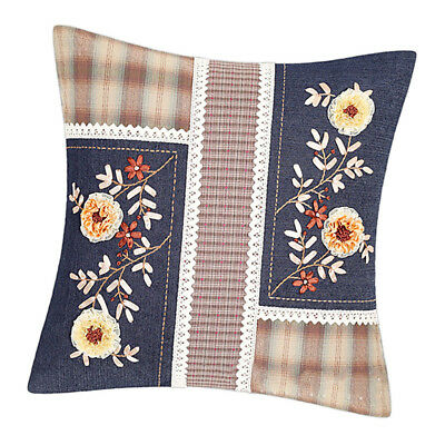 DIY Ribbon Embroidery Kit Sewing Tool Kit Cushion Pillowcase Unfinished