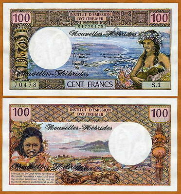 New Hebrides, 100 Francs, ND (1970 - 1977), P-18, UNC
