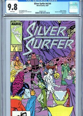 Silver Surfer v3 #4 CGC 9.8 White Pages Rogers Cover & Art Marvel Comics 1987