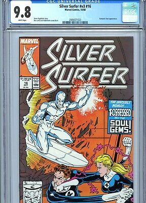 Silver Surfer v3 #16 CGC 9.8 White Pages Ron Lim Cover & Art Marvel Comics 1988
