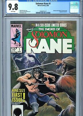 Solomon Kane #1 CGC 9.8 White Pages Marvel Comics 1985