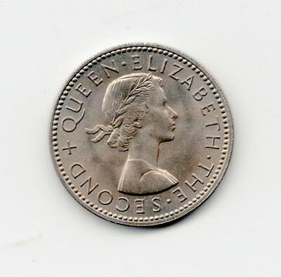 New Zealand Uncirculated 1965 Shilling-Lot Z2