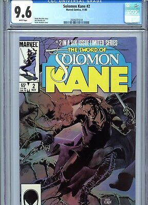 Solomon Kane #2 CGC 9.6 White Pages Marvel Comics 1985