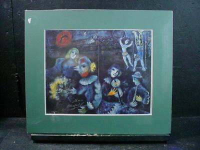 NobleSpirit NO RESERVE {3970}Marc Chagall Autograph on Folded Circus Print