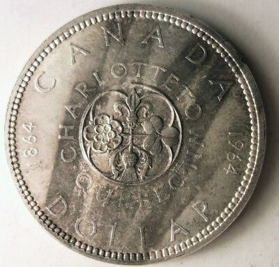 1964 CANADA DOLLAR - Unusual Toning - High Value Low Mintage Coin - Lot #D16