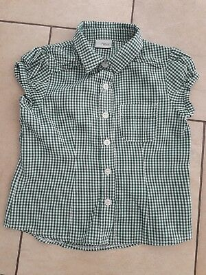 Girls Next Green Check School Shirt/blouse Uniform - Age 5