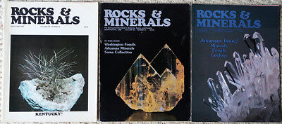 Rocks & Minerals -- Kentucky State Issue + 2 Arkansas State Issues