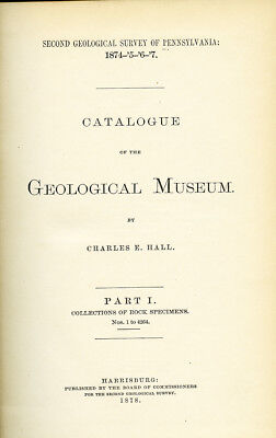 Pennsylvania 2nd Geological Survey - 1878 - Catalog of the Geological Museum PA