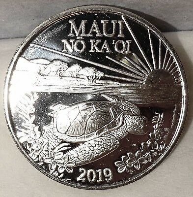 Maui Trade Dollar 2019 Turtle Uncirculated