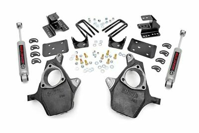 Rough Country Front 2-in / Rear 4-in Spindle Lowering Kit - 07-13 Chevy 1500