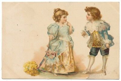 1900 Ellen Clapsaddle - Girl and Boy Meet and Greet