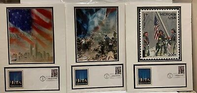 Set Of 3 USPS FIRST DAY COVER 911/ PHOTO MATT REMEMBERING THE HEROES 2001
