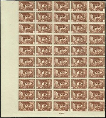 #759 BOTTOM SHEET OF 50 1935 4c PARKS FARLEY ISSUE  MINT-NH/NO GUM AS ISSUED