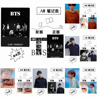 KPOP BTS Notebook Bangtan Boys LOVE YOURSELF 转Tear Diary Book Stationery JIMIN