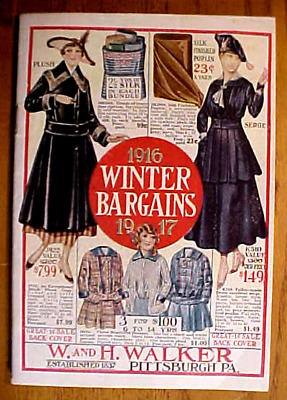 1916 Clothing, Etc. Mail Order Catalog....nice!.......min. Bid .01 & No Reserve!