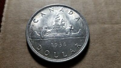 $1 1936 Canadian Silver Dollar