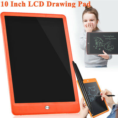 10'' Digital LCD Writing Drawing Tablet Pad eWriter Boards Notepad Stylus Kids