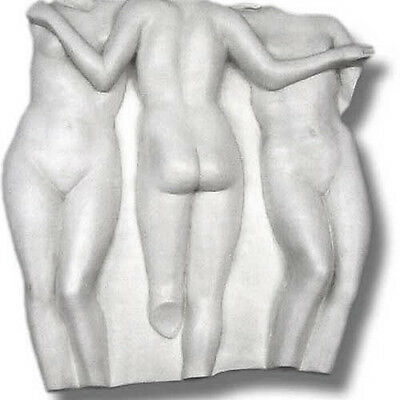 "Three Graces Louvre wall frieze relief sculpture 31"" Museum Replica Reproduction"
