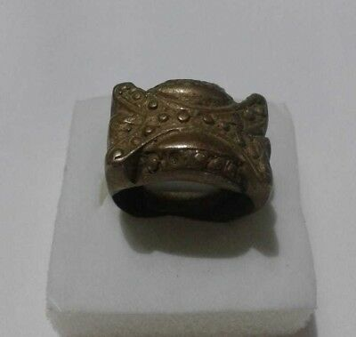 EXTREMELY Ancient VIKING BRONZE RING vintage museum quality ARTIFACT RARE