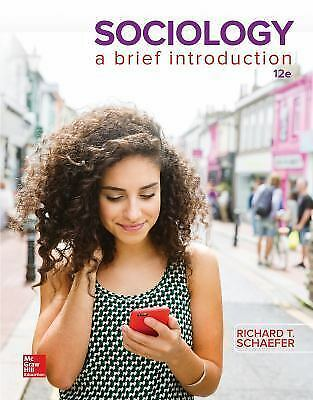 EB00K-Sociology A Brief Introduction 12th Edition by Schaefe  PDF Sociology