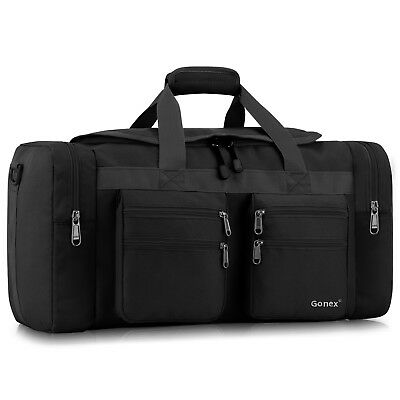 45L Duffle Bag with Strap Travel Sports Gym Pouch Work School Carry On Luggage