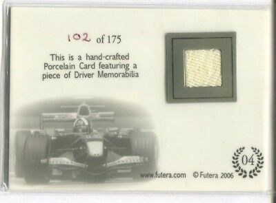 2006 Futera Grand Prix David Coulthard Hard-Crafted Porcelain Memorabilia /175