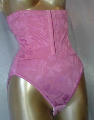 SLIMMING SHIMMERY PINK 1980s WAIST CINCHER SHAPER GIRDLE PANTIES - XL