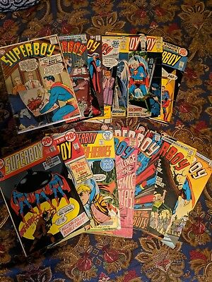 Superboy 1st Series #157 Last 12 cent issue FN/NM,#200 (VF/NM) Lot of 17 Comics
