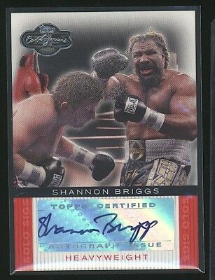 2008 Topps Co-Signers SHANNON BRIGGS autograph auto Heavyweight Boxing