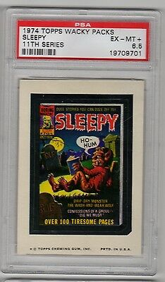 1974 Topps Wacky Packages Sleepy Magazine 11th Series 11 PSA 6.5 Low Pop EX MT