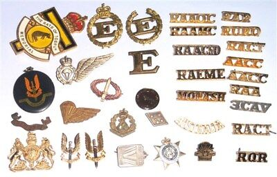a selection of over 30 Australian Badges and Insignia .c.WW2 to Modern