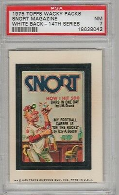 1975 Topps Wacky Packages 14th Series 14 Snort Magazine White PSA 7 NM