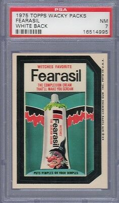 1975 Topps Wacky Packages 14th Series 14 Fearasil White Back PSA 7 NM